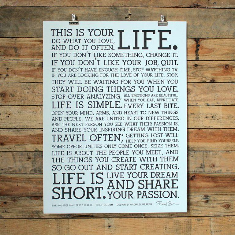holstee manifesto iphone