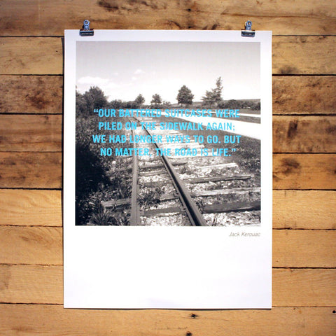 Kerouac Quote Poster