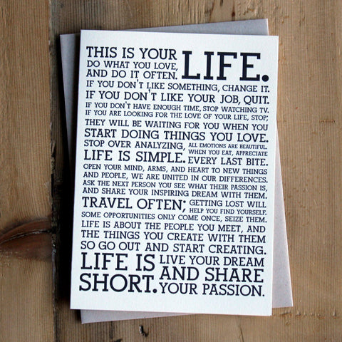 Holstee Manifesto Cards (6-Pack)