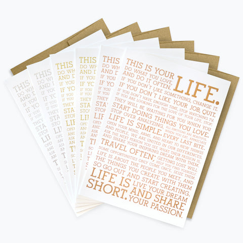 Metallic Manifesto Greeting Cards (6-Pack)
