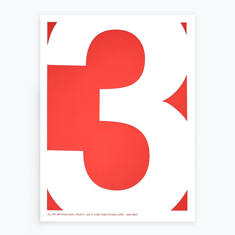Minimalist Quote: Three Poster