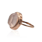Aissa: Rose Quartz Ring in 18k Rose Gold Vermeil on Sterling Silver