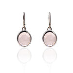 Aissa: Rose Quartz Earrings in Sterling Silver