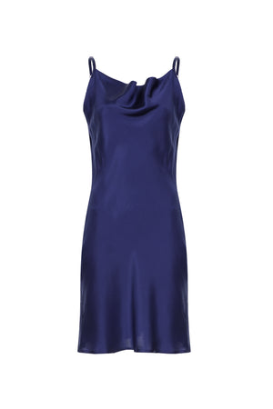 Scarlett Silk Nightgown - Navy