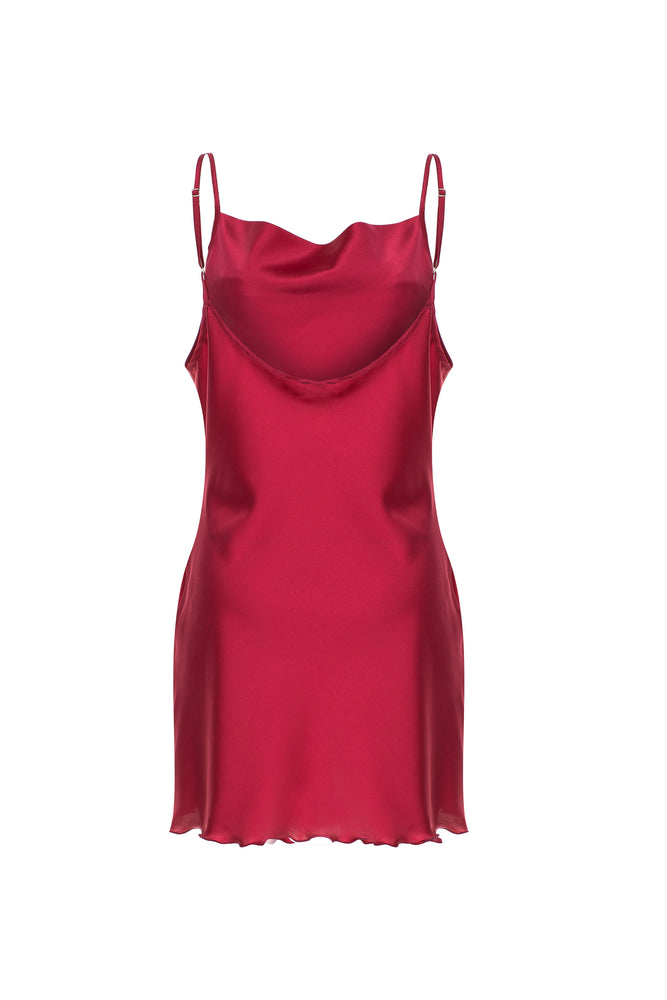 Scarlett Silk Nightgown - Ruby