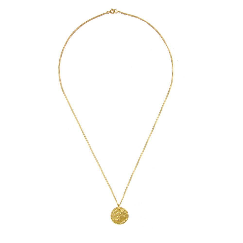 Brutus Coin Necklace - Gold