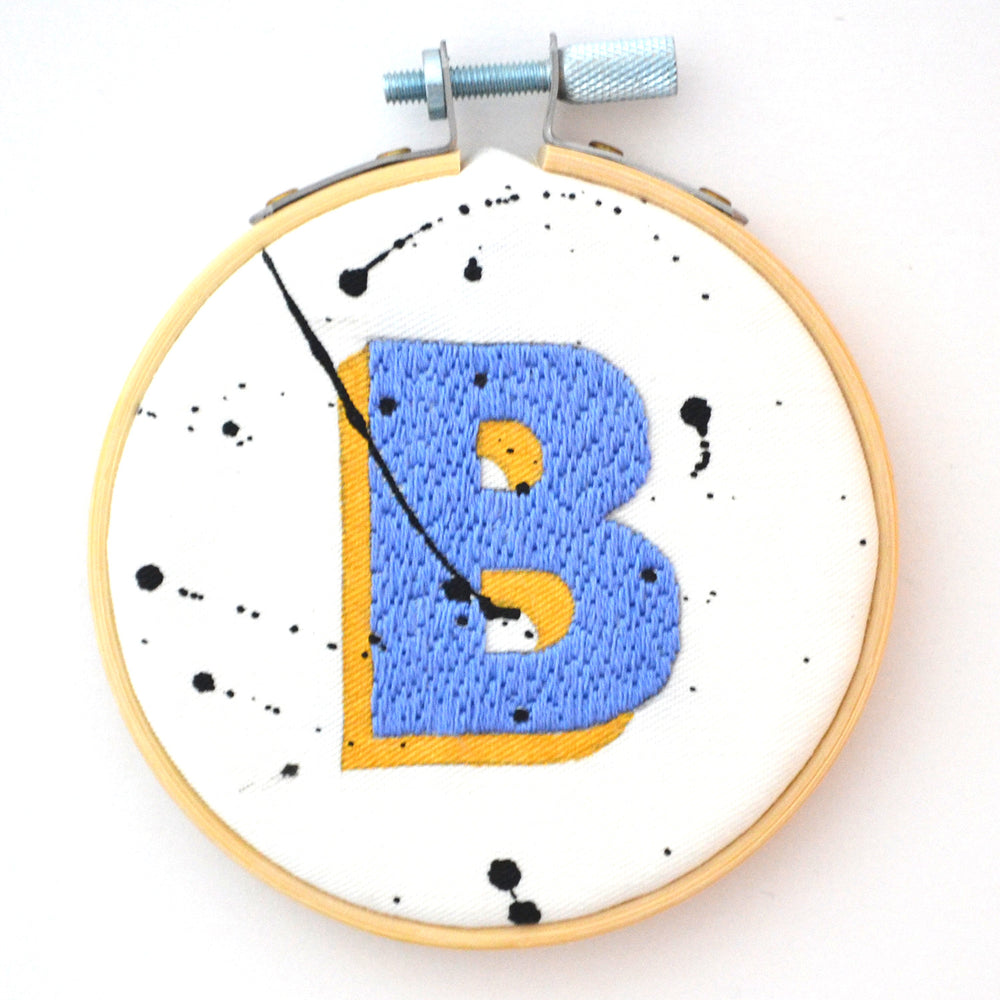 Alphabet Letter Hoop - The Gold Collection
