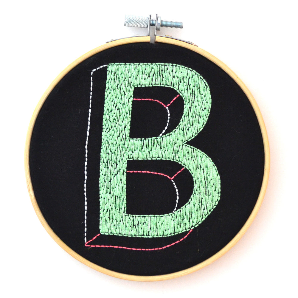 Alphabet Letter Hoop - The Negative Space Collection