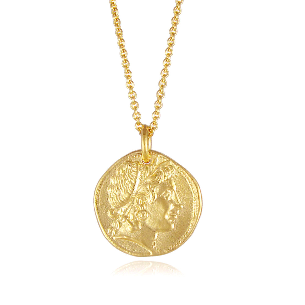 Demeter Coin Necklace - Gold
