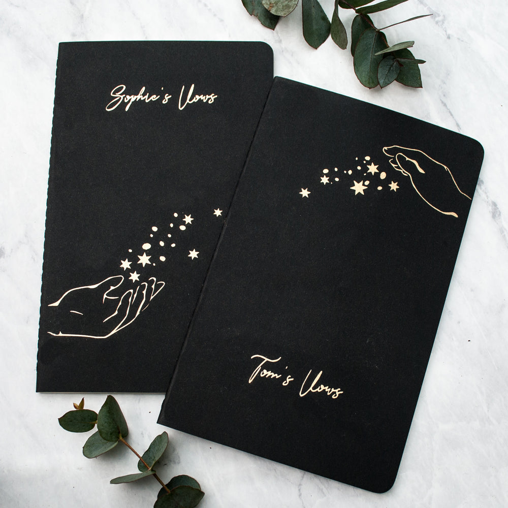 Personalised Star Wedding Vow Book