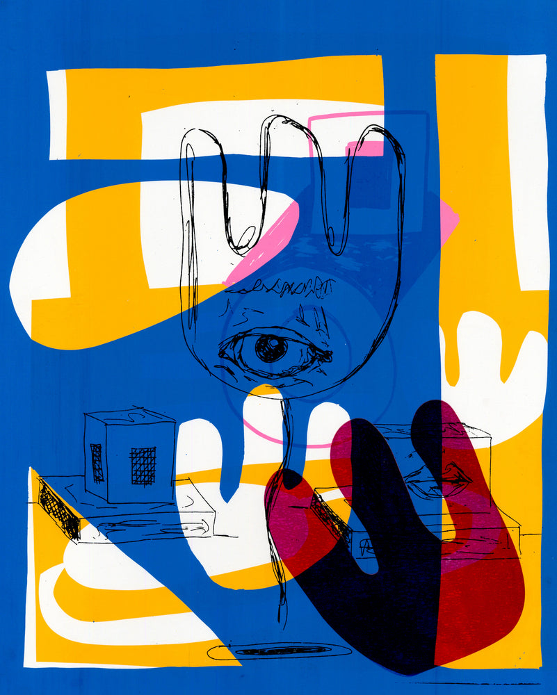 Go To Bed Series - Eye See You Blue, 2018