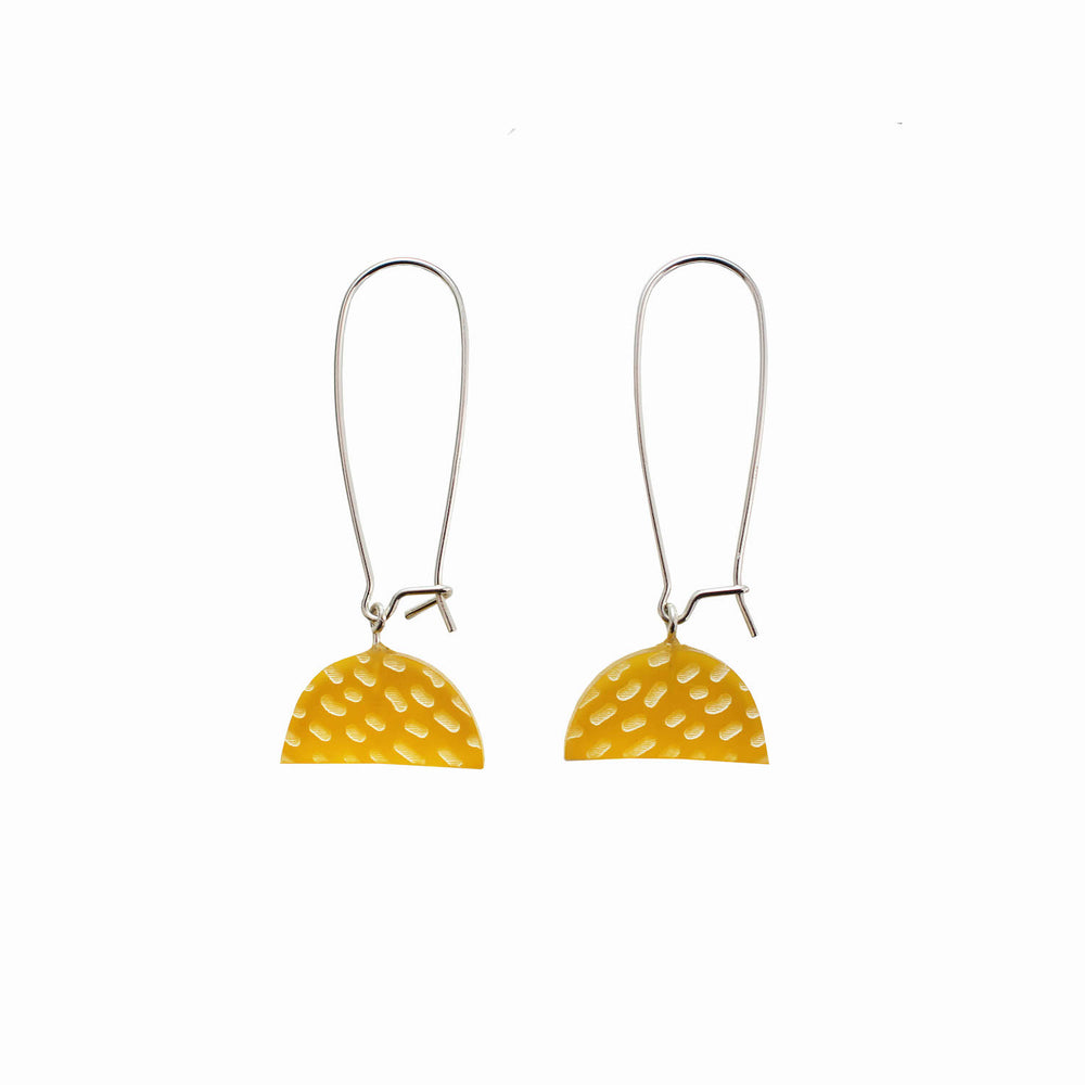 Half Moon Earrings - Yellow
