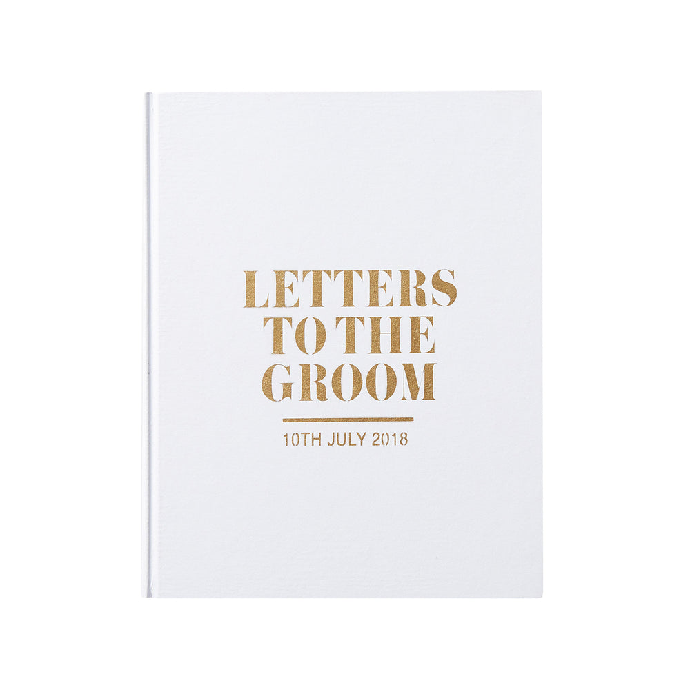 Luxury Letters to the Groom Wedding Keepsake Book