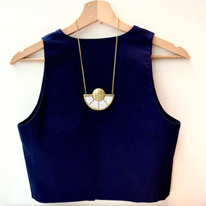 Mwezi Half Moon Necklace