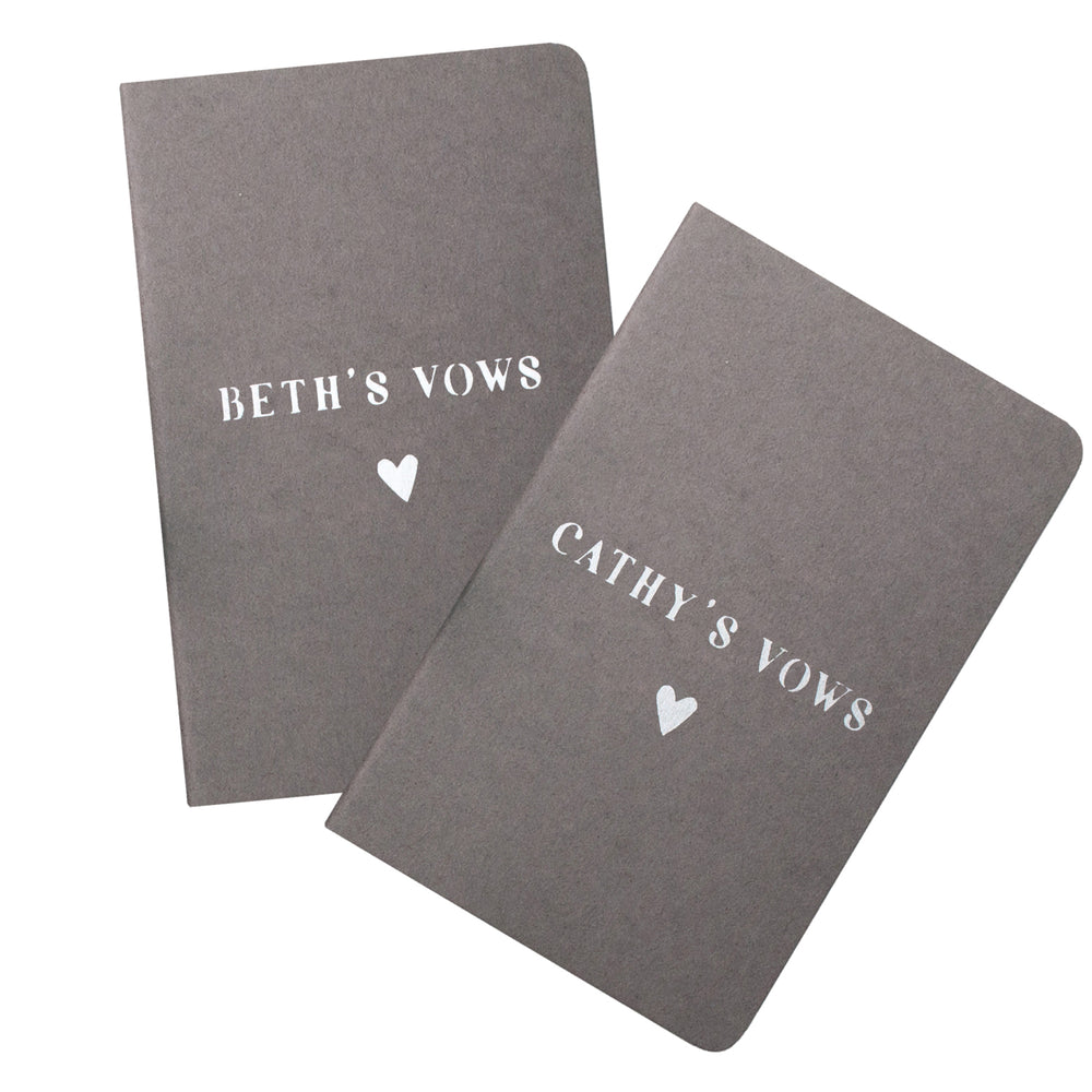 Personalised Heart Wedding Vow Book