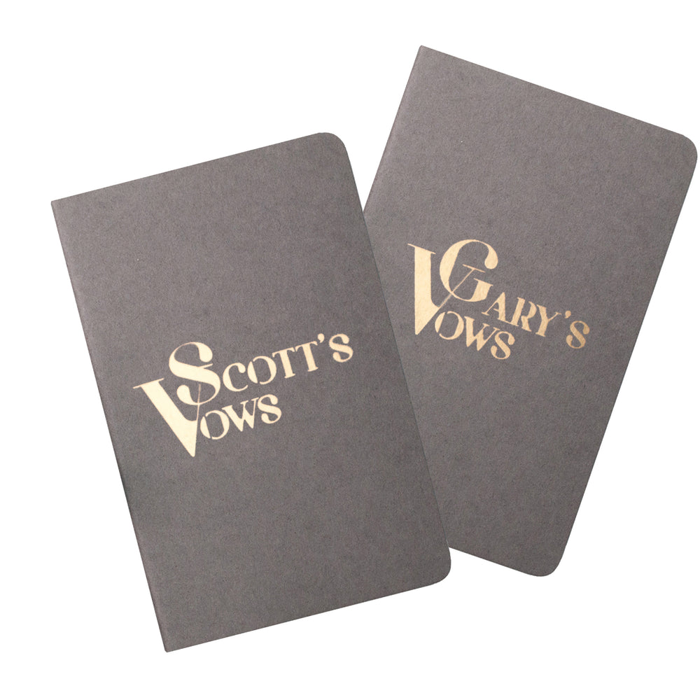 Personalised Name Wedding Vow Book