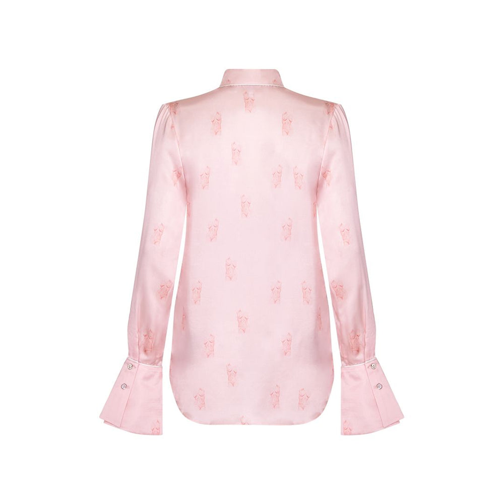 Barely There Silk Shirt - Pink