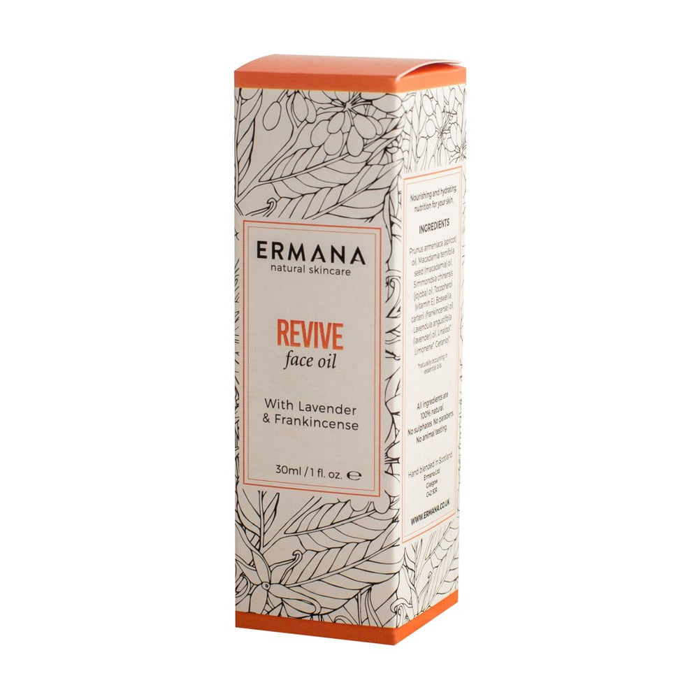 Revive Face Oil with Frankincense and Lavender, 30ml