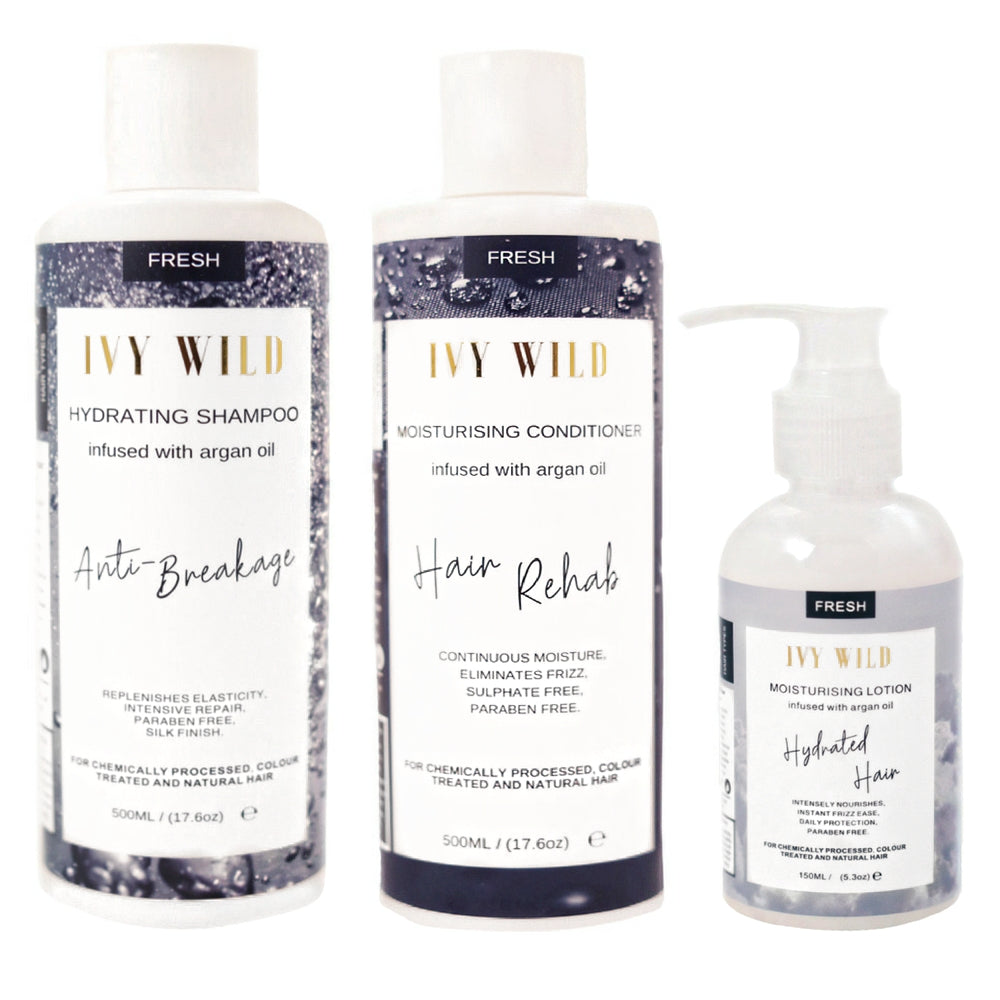 WILD HYDRATION SET || Shampoo, Conditioner and Moisturising Lotion