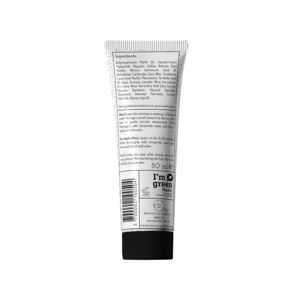 Raw espresso face scrub, 80 ml