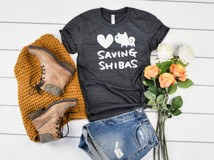 Saving Shibas Inc Original T-Shirt (Unisex) - Three Lines