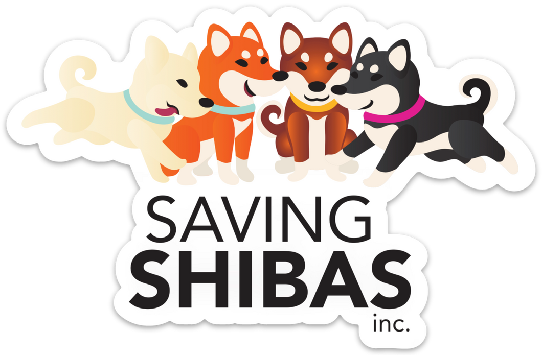 Saving Shibas Bumper Sticker