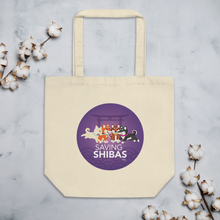Saving Shibas Inc Eco Tote Bag Purple