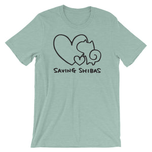 Saving Shibas Inc Original T-Shirt (Unisex) - Double Hearts