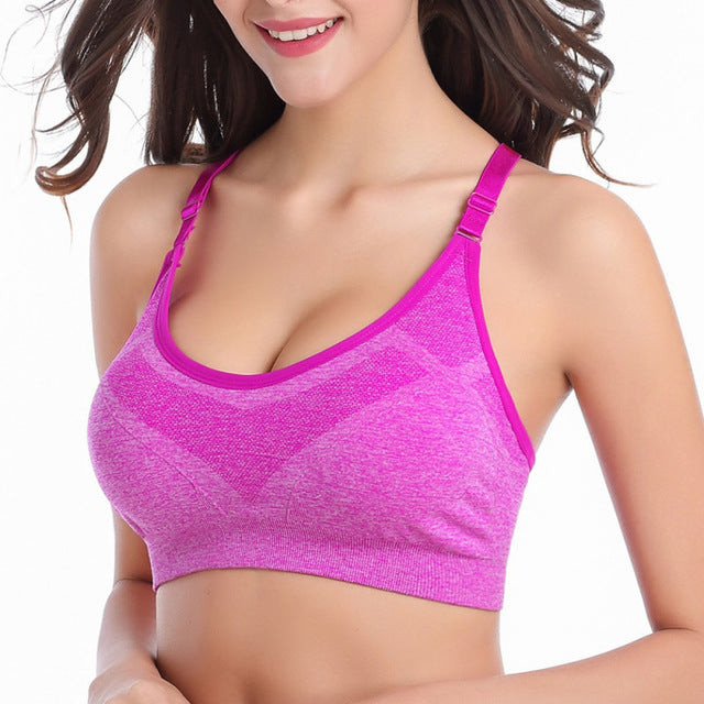 Alyssa Seamless Adjustable Shoulder Strap Fitness Bra