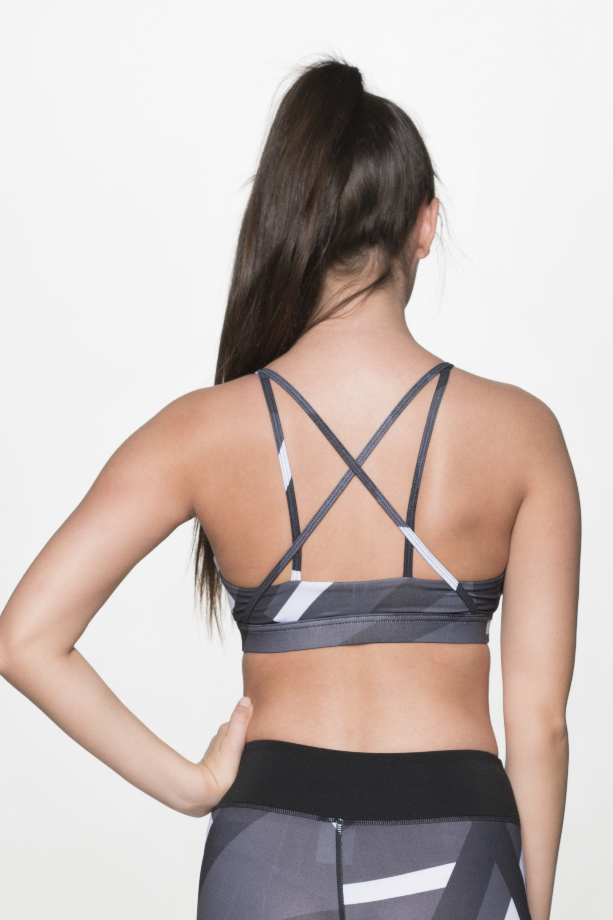 STACY STONE PRINTED SPORTS BRA