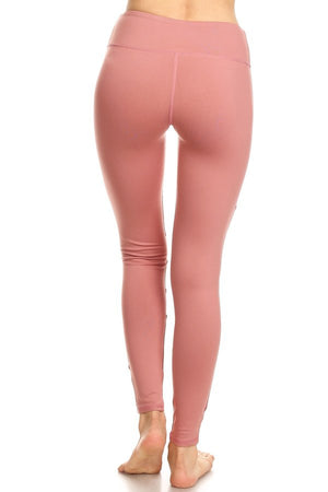 DUSTY ROSE Mesh Panel Legging