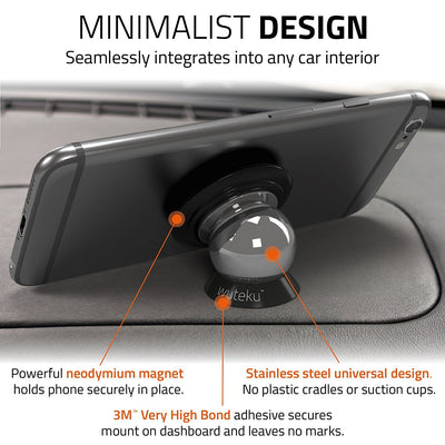 UltraSlim Magnetic Phone Mount - Black