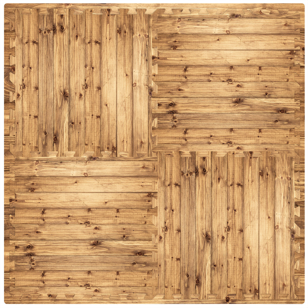 "Rustic Pine Foam Flooring- 24"" tiles"