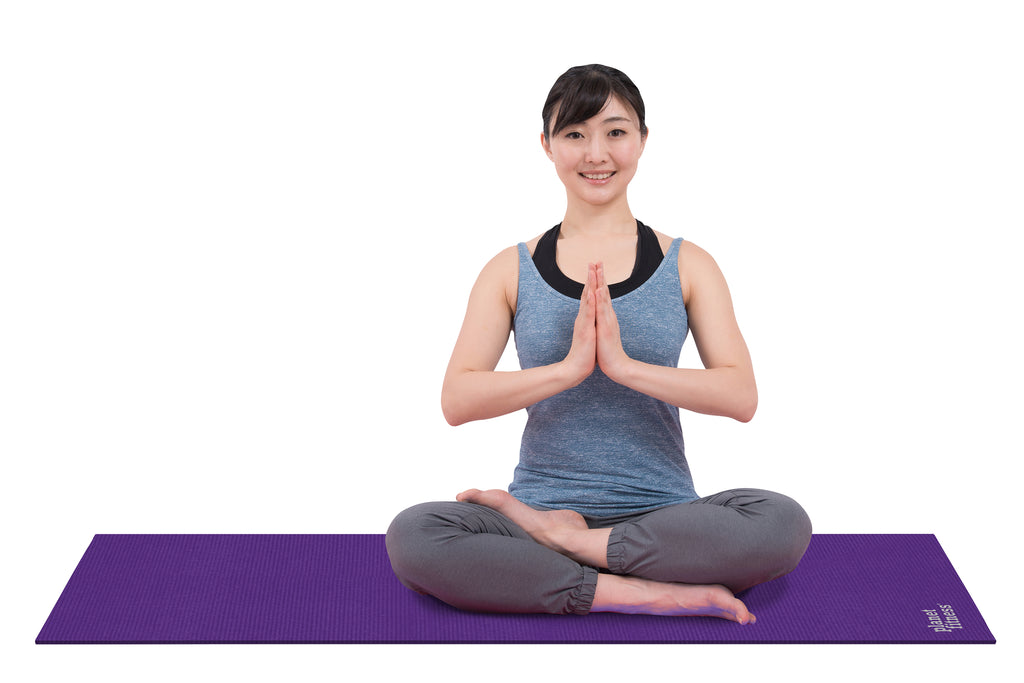 6mm Solid Purple Yoga Mat