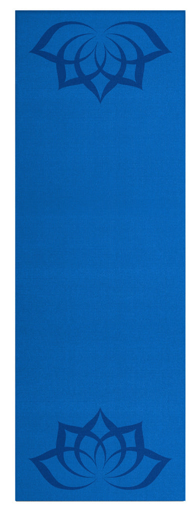 3mm Blue Lotus Silkscreened Yoga Mat 24x68