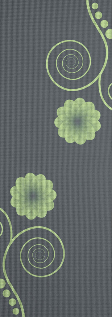 3mm Gray Flowering Silkscreen Yoga Mat