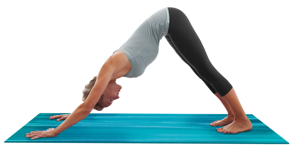 "4mm Aqua Ombre Yoga Mat - 24"" x 68"""
