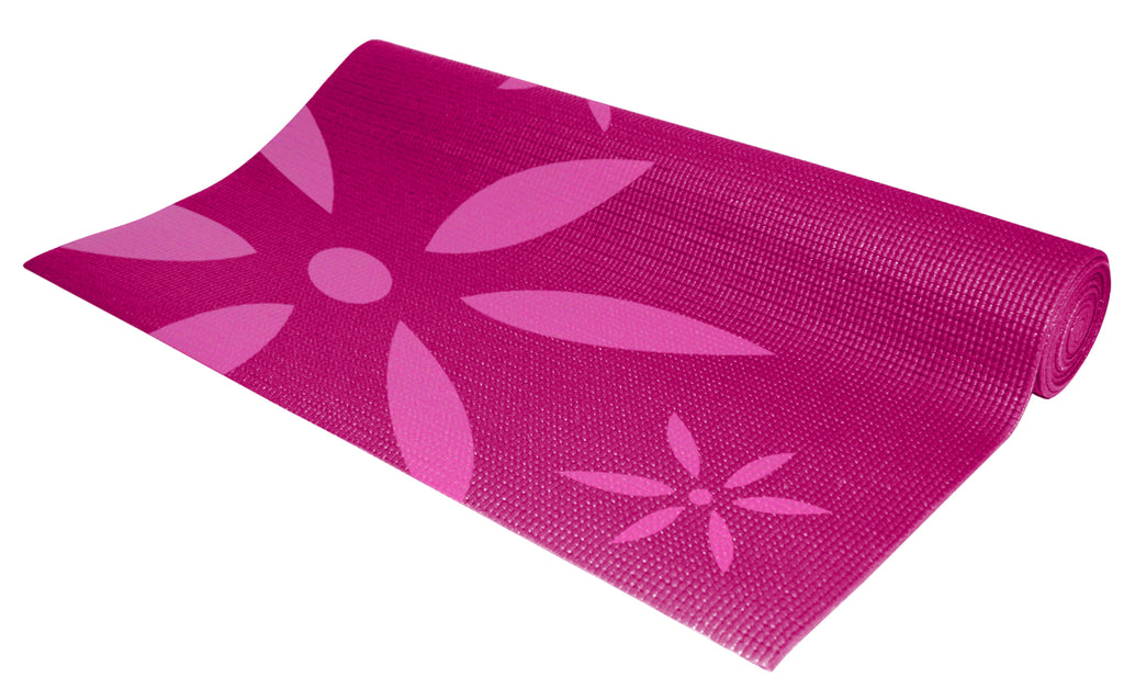 Renew 4mm Pink Daisy Yoga Mat