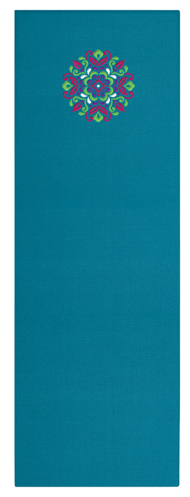 6mm Teal Allure EmbroideredMat