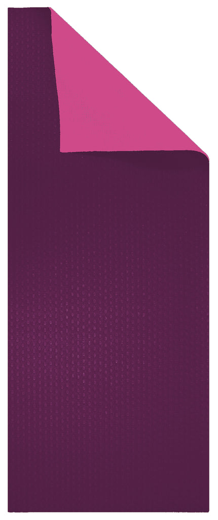 "6mm Pink/Plum Reversible Yoga Mat - 24"" x 68"""