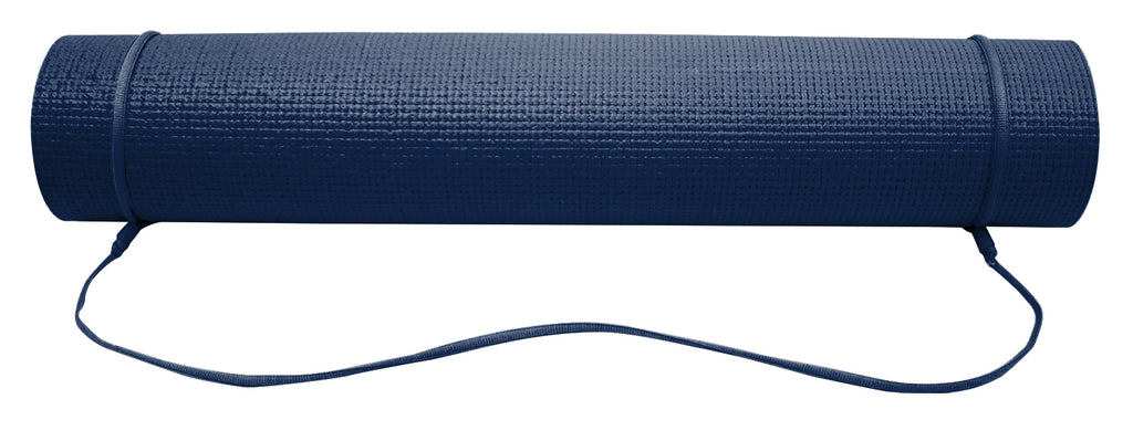 6mm Navy/Tan Reversible Yoga Mat