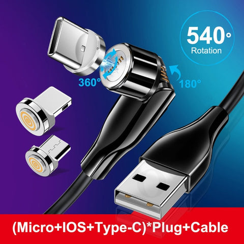 540° ROTATING MAGNETIC USB CHARGING CABLE