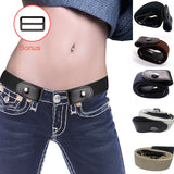 Buckle-Free Elastic Belt for Women/Men
