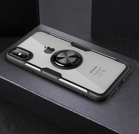 Wink Pik Shockproof Magnetic Ring Case For iPhone