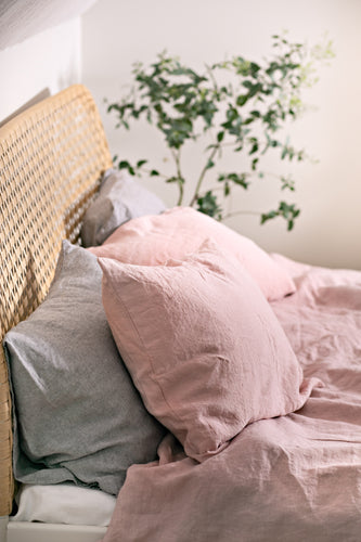 Blush pink duvet cover set with 2 pillowcases