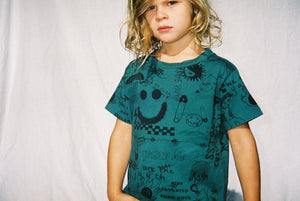 YOUTH TEE / FOREST GREEN