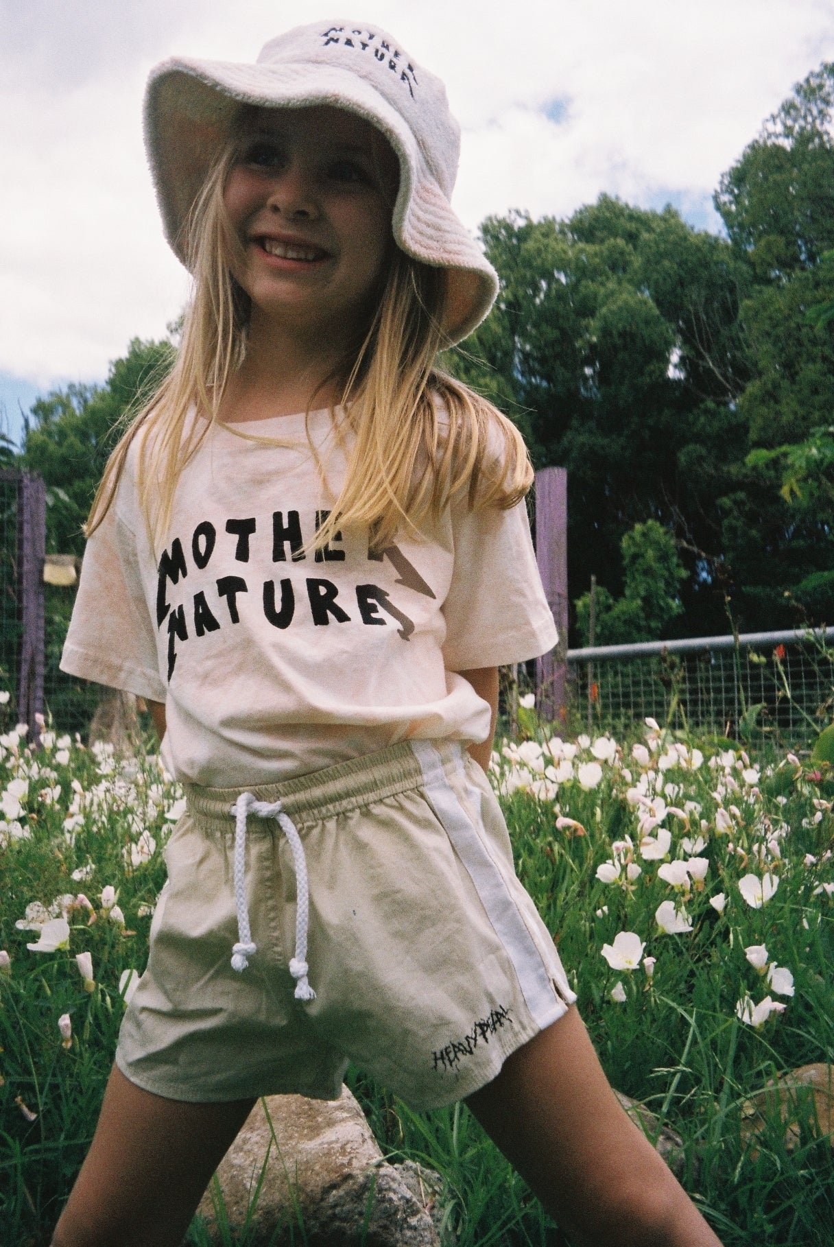 MOTHER NATURE TEE / PEACH TIE DYE
