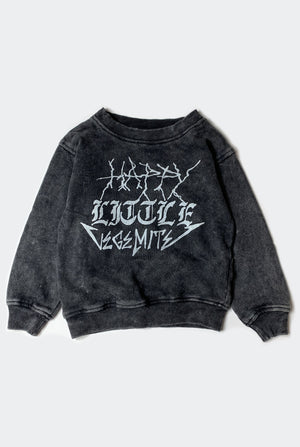HAPPY SWEATSHIRT / WASHED BLACK PREORDER