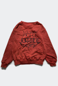 HAPPY SWEATSHIRT / WASHED RED