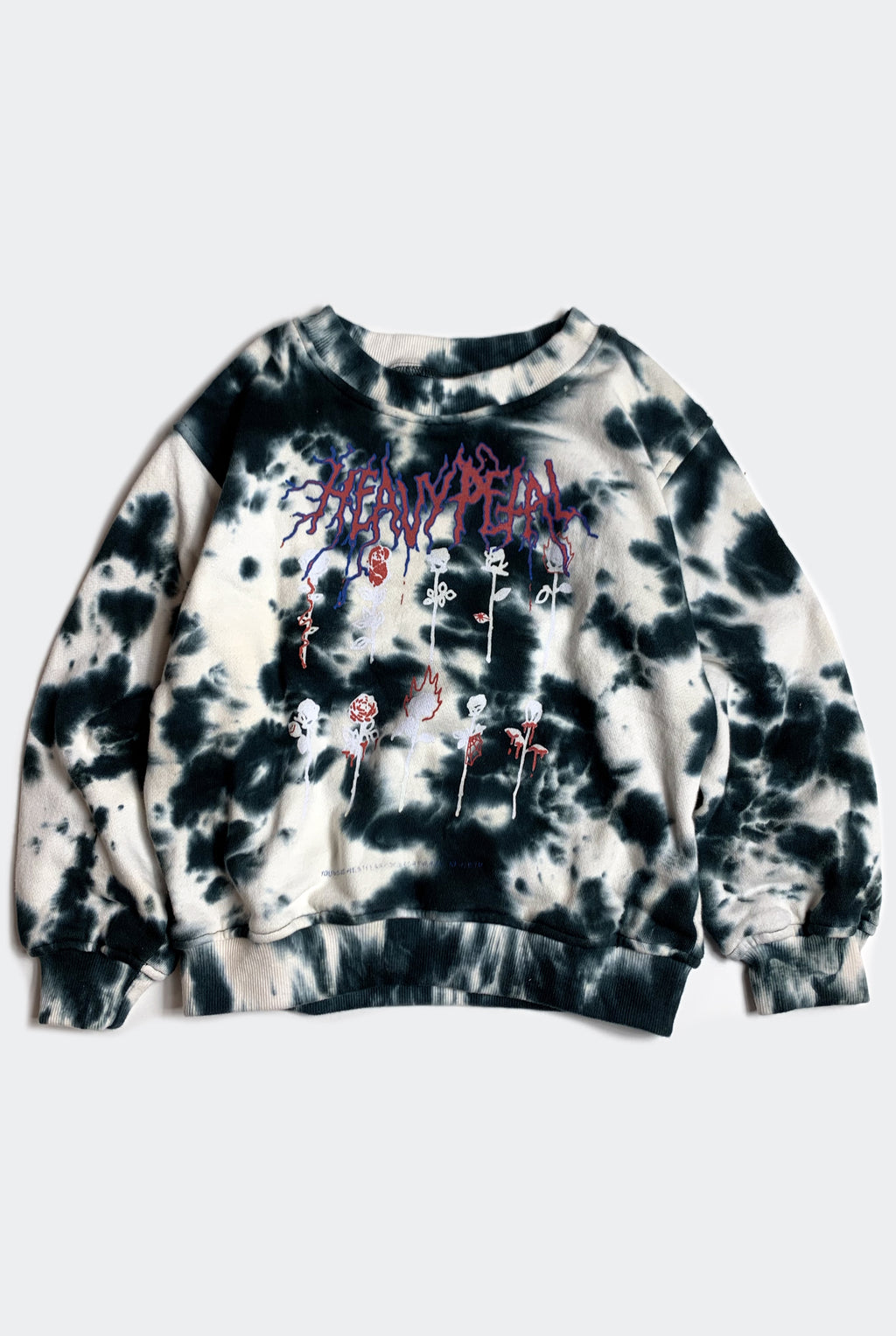 HEAVY PETAL SWEATER / MIDNIGHT TIE DYE